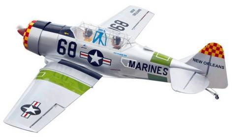 AT-6 TEXAN  翼展:180 公分  機身長:117 公分  重量:4.2 公斤  引擎動力:2行程75級              4行程91級  動作:5動作 6個伺服器