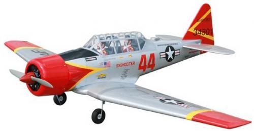 AT-6 [120級]  翼展 : 210 公分  機身長 : 136 公分  重量 : 5.8 公斤  引擎動力 : 2-4 行程 120級  動作 : 5 動作 7個伺服器