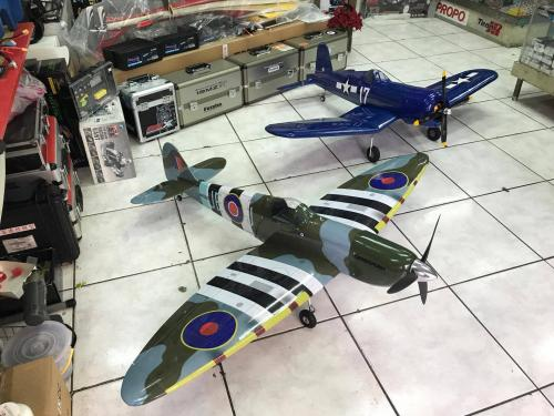 50級噴火二戰戰機 另有30CC汽油飛機版本
