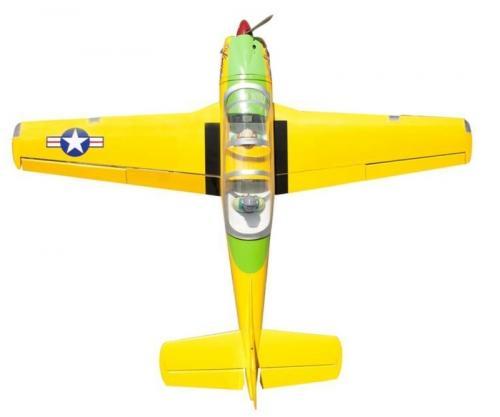 T-34C Turbo Mentor 低翼練習機-油電兩用   翼展 ................... 190 公分  重量.......................  5.1 公斤  機身長 ........................ 143 公分  動力引擎 ........................ 20-22cc 動力馬達....................... POWER-110 動作 ......................... 6 CH 與 11 個伺服器